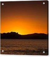 Sun Setting Behind Calvi Citadel In Corsica Acrylic Print