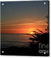 Sun Setting In Cambria Calm Pacific Acrylic Print