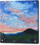 Sun Setting Over Mole Hill - Sold Acrylic Print