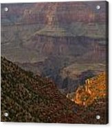 Sun Shining On The Canyons Acrylic Print