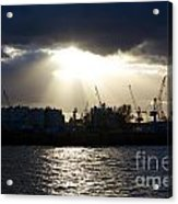 Sun Shining Through Clouds Acrylic Print