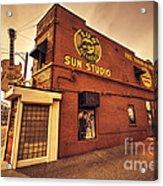 Sun Studios Memphis  Acrylic Print