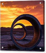 Sun Tunnels Acrylic Print by Peter Irwindale