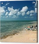 Sunbathers On The Beach Acrylic Print