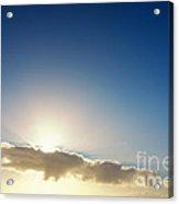 Sunbeams Behind Clouds Acrylic Print