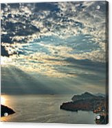 Sunbeams On Dubrovnik Acrylic Print