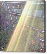 Sunbeams Over Gate Acrylic Print