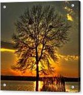 Sunblock A Sunset On Lake Oconee Acrylic Print