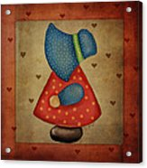 Sunbonnet Sue In Red And Blue Acrylic Print by Brenda Bryant