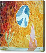Sunburst, 1989 Wc On Paper Acrylic Print
