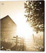 Sunburst On The Farm Acrylic Print