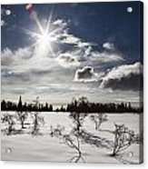 Sunburst With Snow Acrylic Print