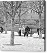 Sunday Afternoon In A Paris Park Acrylic Print