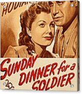 Sunday Dinner For A Soldier, Us Poster Acrylic Print