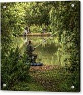 Sunday Fishing At The Lake Acrylic Print