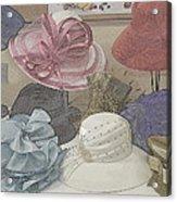 Sunday Hats For Sale Acrylic Print