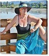 Sunday Lakeside  Acrylic Print