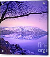 Sunday Morning At Okanagan Lake Acrylic Print