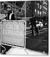 sunday morning roads closed for cyclists and walkers Santiago Chile Acrylic Print