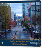 Sunday Morning Rush Hour Acrylic Print