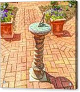 Sundial In The Garden Acrylic Print