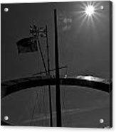 Sundial Silhouette  Acrylic Print