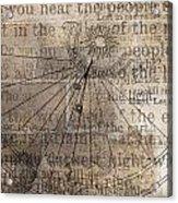 Sundial With Les Miz Acrylic Print