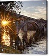 Sundown Bridge Acrylic Print