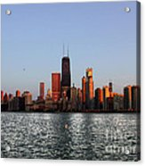 Sundown In The Chicago Canyons Acrylic Print