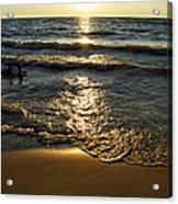 Sundown On The Beach Acrylic Print