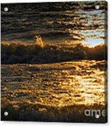 Sundown On The Waves Acrylic Print