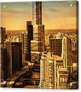 Sundown On Trump Tower Acrylic Print