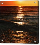 Sundown Reflections On Lake Michigan  01 Acrylic Print
