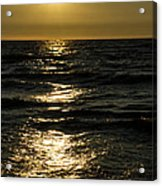 Sundown Reflections On The Waves Acrylic Print