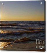 Sundown Scintillate On The Waves Acrylic Print