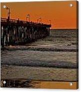 Sundown Surfing Acrylic Print