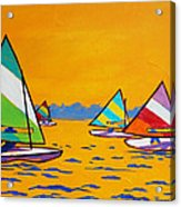 Sunfish Sailboat Race Acrylic Print