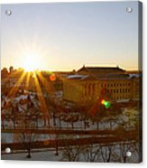 Sunflare At The Museum Acrylic Print