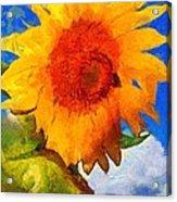 Sunflower - Bee Happy Acrylic Print