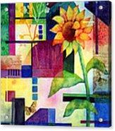 Sunflower Collage 2 Acrylic Print