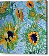 Sunflower Cycle Of Life 1 Acrylic Print by Vicky Tarcau