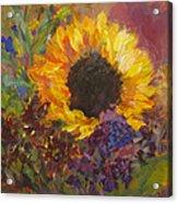 Sunflower Dance Original Painting Impressionist Acrylic Print