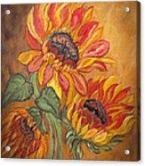 Sunflower Enchantment Acrylic Print by Ella Kaye Dickey