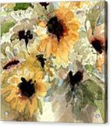 Sunflower Impressions Acrylic Print