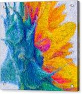 Sunflower Profile Impressionism Acrylic Print