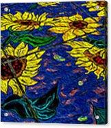 Sunflower Tiled Oil Painting Acrylic Print