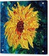 Sunflower - Tribute To Vangogh Acrylic Print