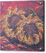 Sunflowers 2 - Ode To Van Gogh Acrylic Print