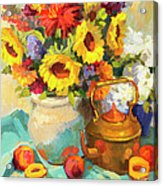 Sunflowers And Copper Acrylic Print