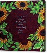 Sunflowers And Dreams Acrylic Print